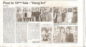 Article de presse pour l'exposition 2012